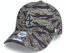 Los Angeles Dodgers Drop Zone Mvp Tiger Camo Adjustable - 47 Brand