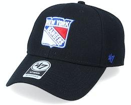 New York Rangers Mvp Black/White Adjustable - 47 Brand