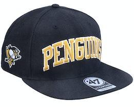 Pittsburgh Penguins Kingswood Captain Black Snapback - 47 Brand