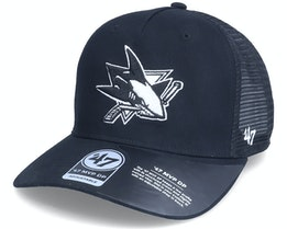 San Jose Sharks Level Mesh Mvp Dv Black Trucker - 47 Brand