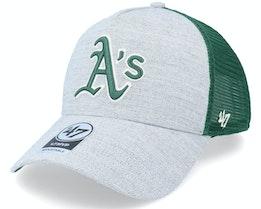 Oakland Athletics Storm Cloud Mesh Mvp Dt Charcoal/Green Trucker - 47 Brand
