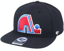 Hatstore Exclusive x Quebec Nordiques Captain No Shot Vintage Black Snapback - 47 Brand