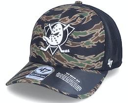 Anaheim Ducks Drop Zone Mesh Mvp Dp Tiger Camo/Black Trucker - 47 Brand