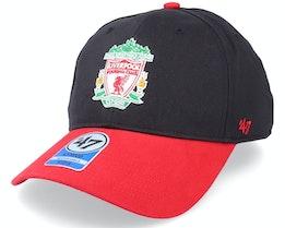 Kids Liverpool FC Short Stack Mvp Black/Red Adjustable - 47 Brand