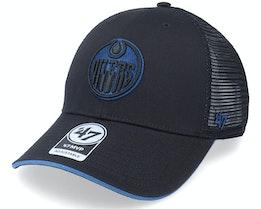 Edmonton Oilers Dagwood Mesh Mvp Black Trucker - 47 Brand