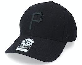 Pittsburgh Pirates Melton Snap Mvp Black Adjustable - 47 Brand
