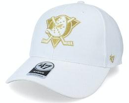 Anaheim Ducks Metallic Snap Mvp White/Gold Adjustable - 47 Brand