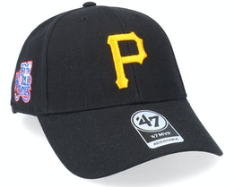 Pittsburgh Pirates Sure Shot Mvp Black Adjustable - 47 Brand