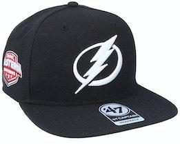 Hatstore Exclusive x Tampa Bay Lightning Black Snapback - 47 Brand