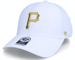 Pittsburgh Pirates MLB Metallic MVP White/Gold Adjustable - 47 Brand