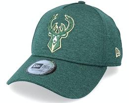 Milwaukee Bucks Tonal Team Heather Green Adjustable - New Era