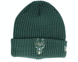 Milwaukee Bucks Team Waffle Knit Dark Green Cuff - New Era