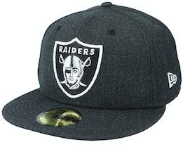 Las Vegas Raiders Heather 59Fifty Black Fitted - New Era