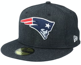 New England Patriots Heather 59Fifty Black Fitted - New Era