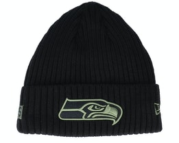 Seattle Seahawks Salute To Service NFL 20 Knit Black Cuff - New Era