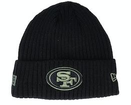 San Francisco 49ers Salute To Service NFL 20 Knit Black Cuff - New Era