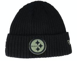 Pittsburgh Steelers Salute To Service NFL 20 Knit Black Cuff - New Era