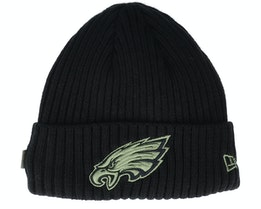 Philadelphia Eagles Salute To Service NFL 20 Knit Black Cuff - New Era