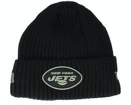 New York Jets Salute To Service NFL 20 Knit Black Cuff - New Era