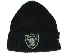Las Vegas Raiders Salute To Service NFL 20 Knit Black Cuff - New Era