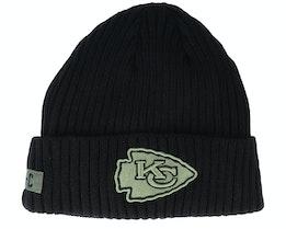 Kansas City Chiefs Salute To Service NFL 20 Knit Black Cuff - New Era