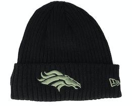Denver Broncos Salute To Service NFL 20 Knit Black Cuff - New Era