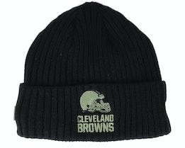 Cleveland Browns Salute To Service NFL 20 Knit Black Cuff - New Era
