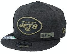 New York Jets Salute To Service NFL 20 Heather Black Snapback - New Era