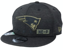 New England Patriots Salute To Service NFL 20 Heather Black Snapback - New Era