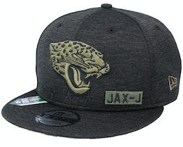 Jacksonville Jaguars Salute To Service NFL 20 Heather Black Snapback - New Era