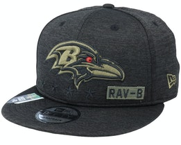 Baltimore Ravens Salute To Service NFL 20 Heather Black Snapback - New Era