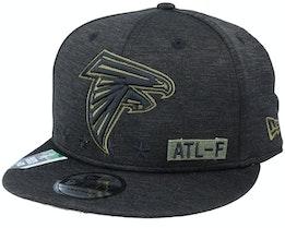Atlanta Falcons Salute To Service NFL 20 Heather Black Snapback - New Era