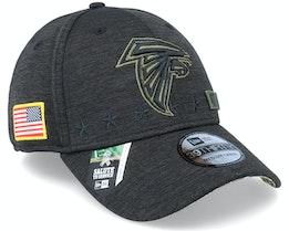 Atlanta Falcons Salute To Service 39Thirty NFL 20 Heather Black Flexfit - New Era