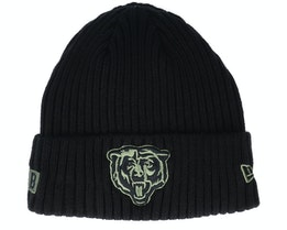 Chicago Bears Salute To Service NFL 20 Knit Black Cuff - New Era