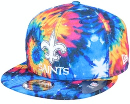 New Orleans Saints Crucial Catch 9Fifty Tie-Dye Multicolor Snapback - New Era