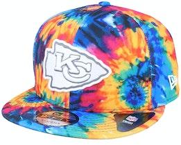 Kansas City Chiefs Crucial Catch 9Fifty Tie-Dye Multicolor Snapback - New Era