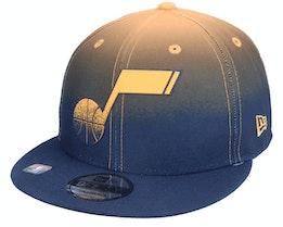 Utah Jazz 9FIFTY NBA20 Back Half Navy/Orange Snapback - New Era