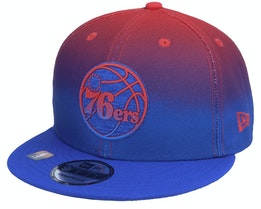 Philadelphia 76ers 9FIFTY NBA20 Back Half Royal/Red Snapback - New Era