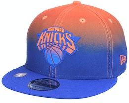 New York Knicks 9FIFTY NBA20 Back Half Blue/Orange Snapback - New Era