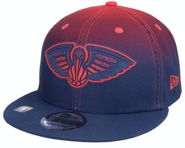 New Orleans Pelicans 9FIFTY NBA20 Back Half Navy/Red Snapback - New Era