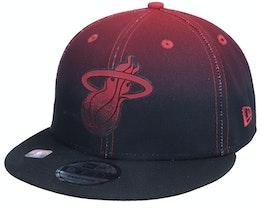 Miami Heat 9FIFTY NBA20 Back Half Black/Red Snapback - New Era