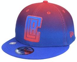 Los Angeles Clippers 9FIFTY NBA20 Back Half Blue/Red Snapback - New Era
