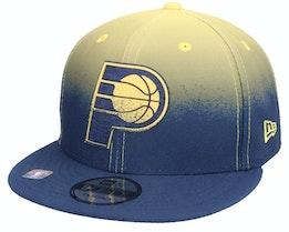 Indiana Pacers 9FIFTY NBA20 Back Half Navy/Yellow Snapback - New Era