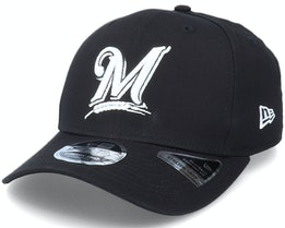Hatstore Exclusive Milwaukee Brewers Essential 9Fifty Stretch Snap MLB Black Adjustable - New Era