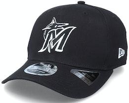 Hatstore Exclusive x Miami Marlins Essential 9Fifty Stretch Black Adjustable - New Era