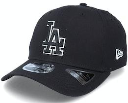 Hatstore Exclusive x Los Angeles Dodgers Essential 9Fifty Stretch Black Adjustable - New Era