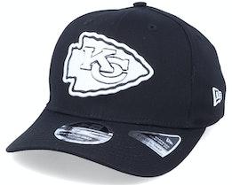 Hatstore Exclusive x Kansas City Chiefs Essential 9Fifty Stretch Black Adjustable - New Era
