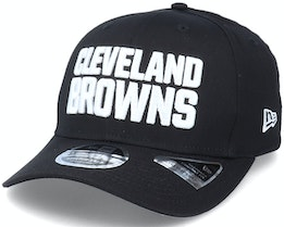 Hatstore Exclusive x Cleveland Browns Essential 9Fifty Stretch Black Adjustable - New Era