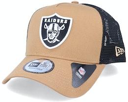 Hatstore Exclusive x Oakland Raiders Caramel A-Frame Trucker - New Era