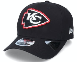 Kansas City Chiefs Neon Pop Outline 9Fifty Black Adjustable - New Era